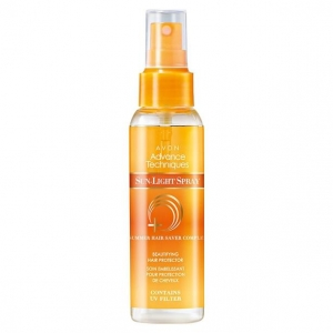 ADVANCE TECHNIQUES SUN-LIGHT SPRAY SUMMER HAIR upiększający spray ochronny na lato z filtrem UV, pantenolem i ekstraktem z alg 100ml