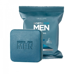 NORTH FOR MEN SUBZERO mydło do mycia ciała z technologią Arctic Pro Defence i elektrolitami 100g