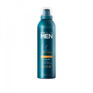 NORTH FOR MEN - RECHARGE - żel do golenia z kompleksem Arctic Pro Defence, żeń-szeniem i minerałami oraz technologią Glide 200ml