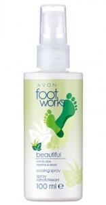 FOOTWORKS - MIĘTA & ALOES - chłodzący spray do stóp i nóg 100ml