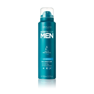 NORTH FOR MEN - ORIGINAL - antyperspiracyjny dezodorant do ciała 24H z kompleksem Arctic Pro Defence i cynkiem 150ml