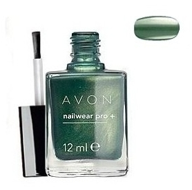 "AVON COLOUR - lakier do paznokci ""Nailwear Pro+"" =GREEN GODDESS="