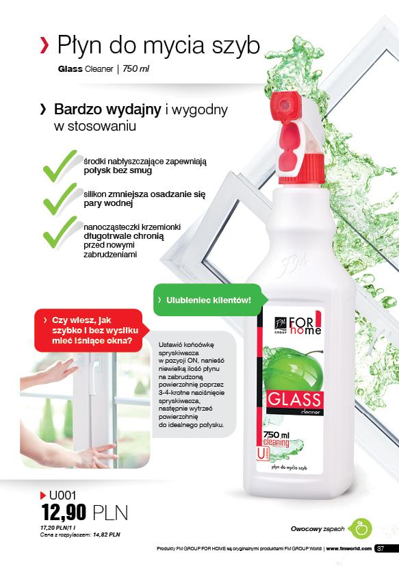 Fm For Home Płyn Do Mycia Szyb Z Nanocząsteczkami O Zapachu Zielonych Jabłek 750ml